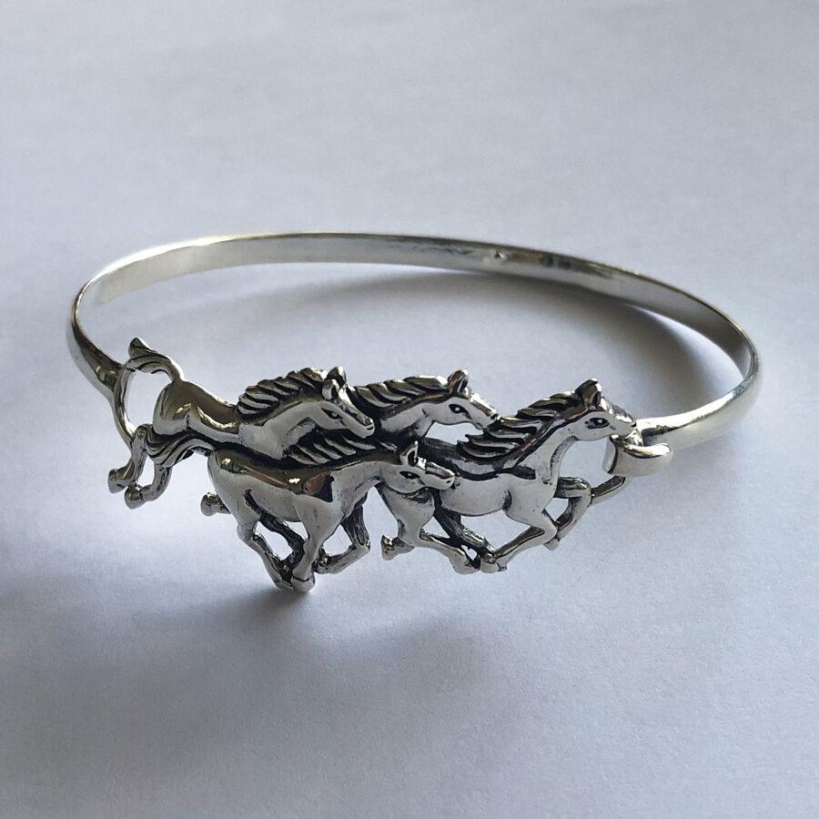 Silver Horse Bracelet Caballos