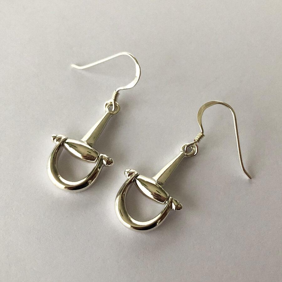 Silver Stirrup Earrings Estribo II