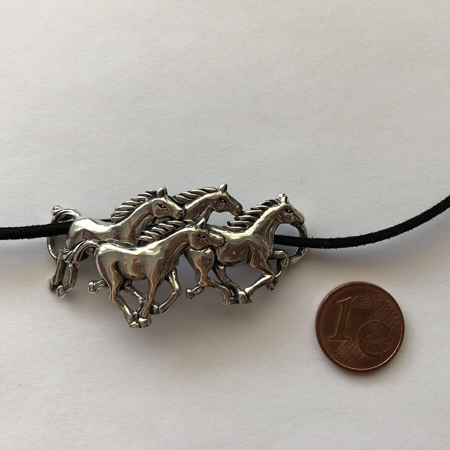 Silver Horse Necklace Caballos