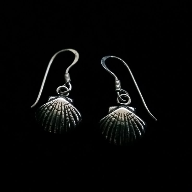 Small Sterling Silver Shell Earrings