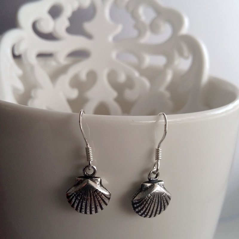 Small Sterling Silver Shell Earrings