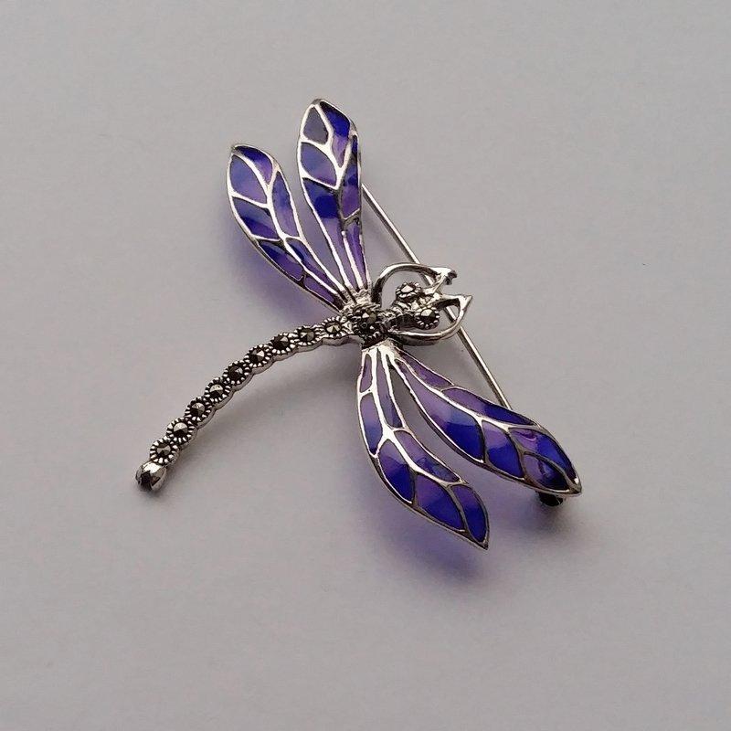 Vitrāžu spāres piespraude Libelula Azul