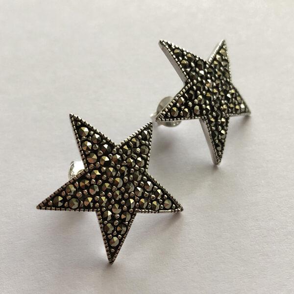 Markazīta auskari Estrella Grande