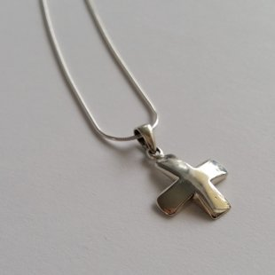 Sterling Silver Cross Pendant Simplicity