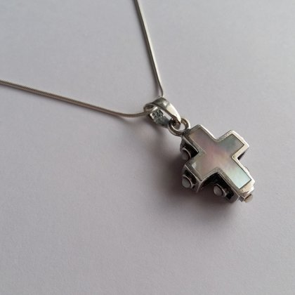 Nacre Cross Pendant