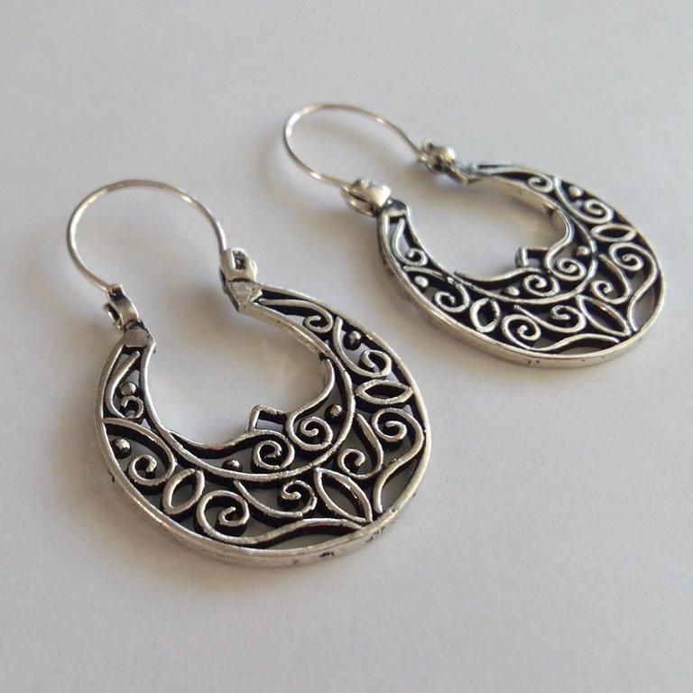 Silver Earrings Arcos