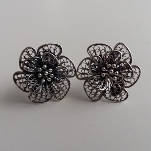 Filigree Earrings Flor de Alegria Dark