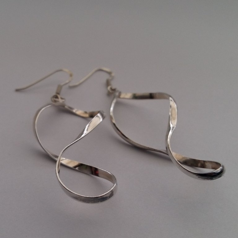 Silver Earrings Infinito