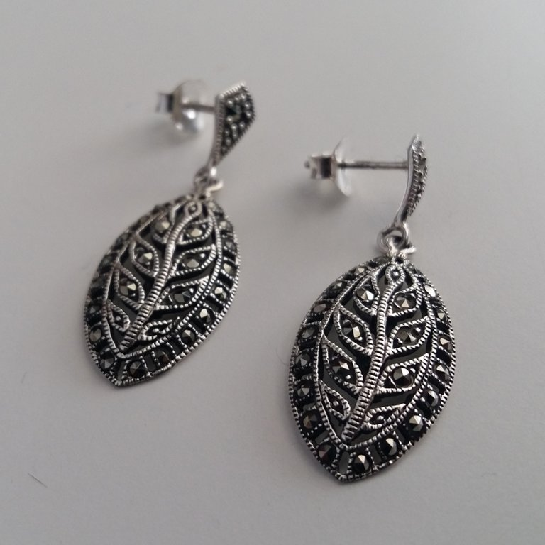 Marcasite Earrings Leonor