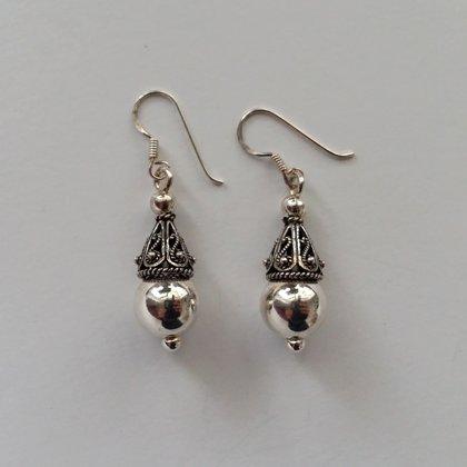 Sterling Silver Earrings with Oriental Look Maribel