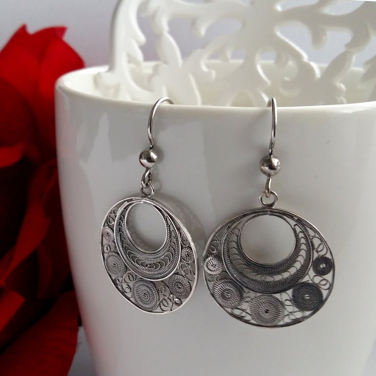 Filigree Earrings Ronda Dark