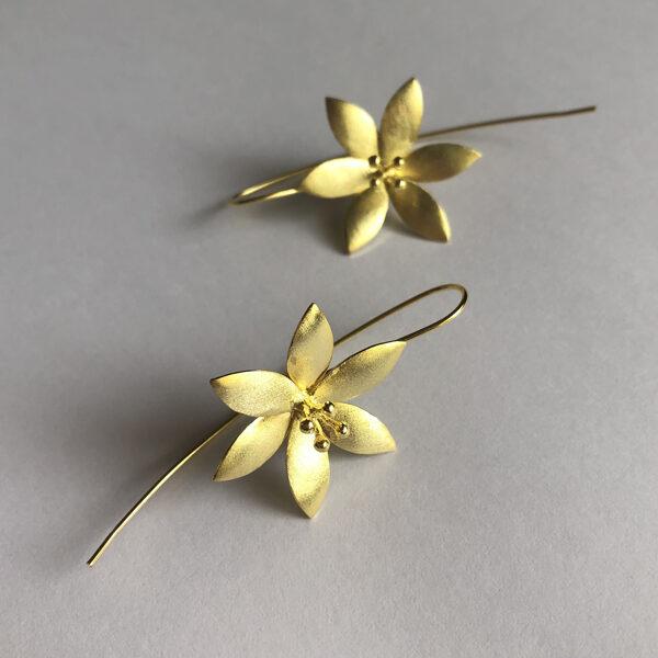 Flower Earrings Flor de Hielo Dorado