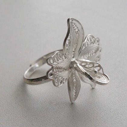 Filigrāna gredzens Orhideja