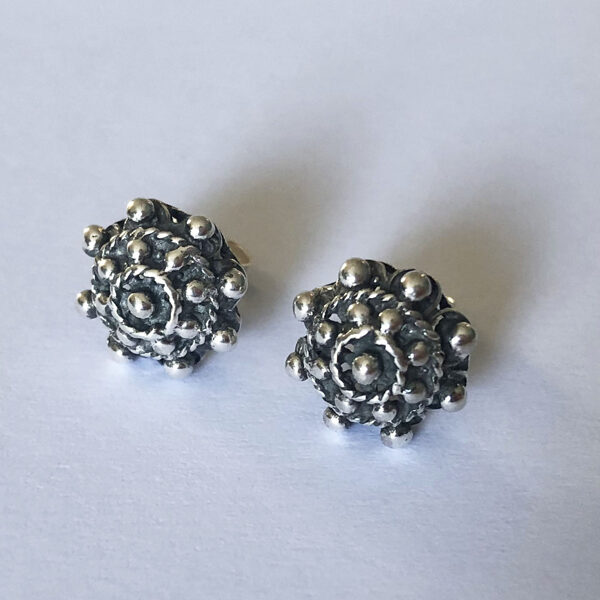 Silver Earrings Charro Mediano