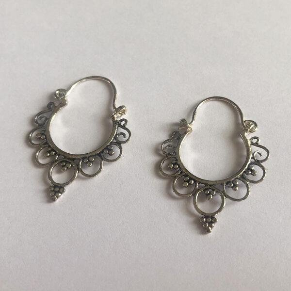 Silver Earrings Aro Boho