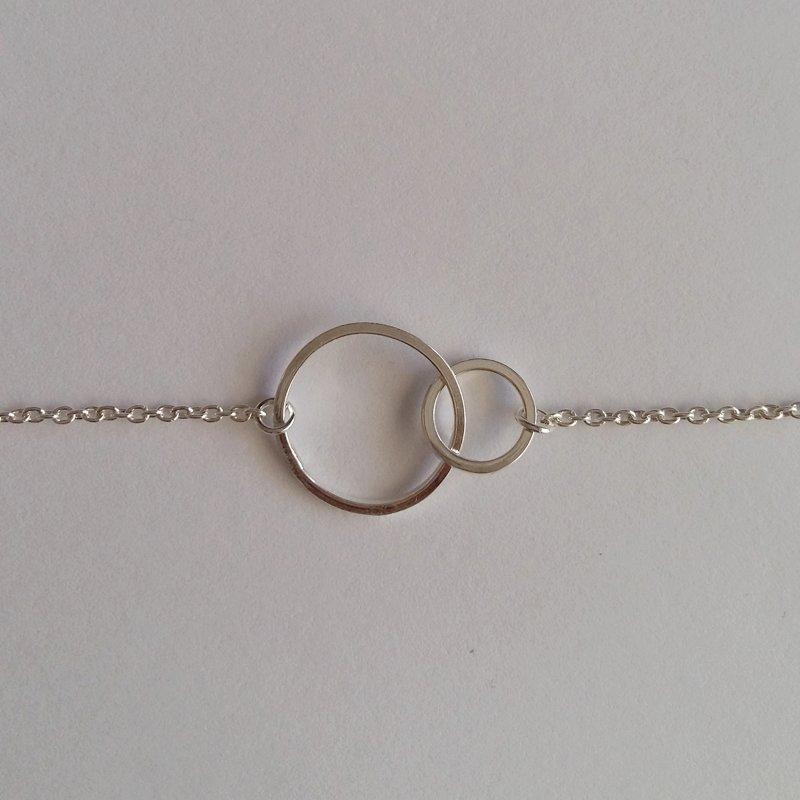 Silver Infinity Karma Ring Necklace
