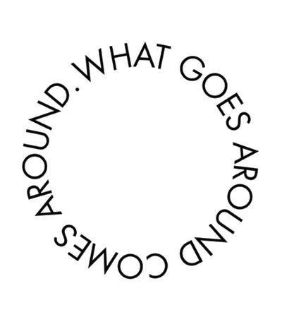 Silver Karma Circle Ring