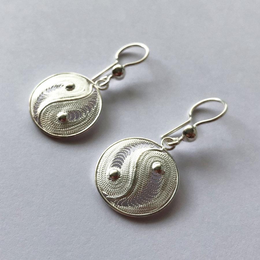 Filigree Earrings Yin Yang
